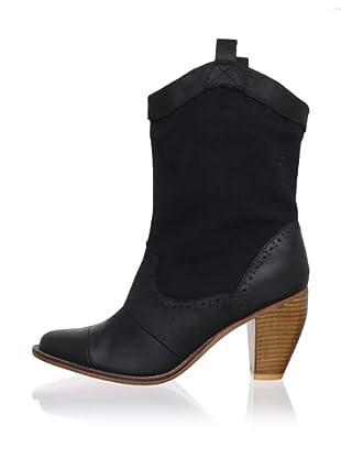 J. Shoes Women's Corral Fab Boot (Black)
