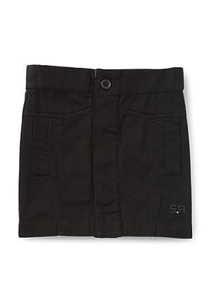 Sonia Rykiel Girl's Twill Button-Up Skirt (Black)