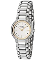 Caravelle 43L110 Crystal Ladies Bracelet Silver White Watch