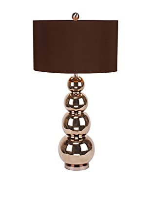 Cara Table Lamp (Brass Colour/Brown)