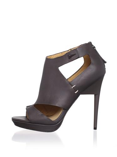 L.A.M.B. Women's Amanda Platform Sandal (Grey)