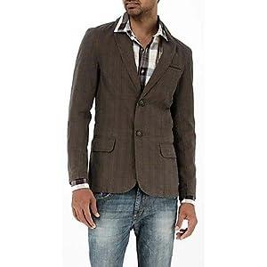Basics 11bbz24954 Checkered Men's Blazer - Brown