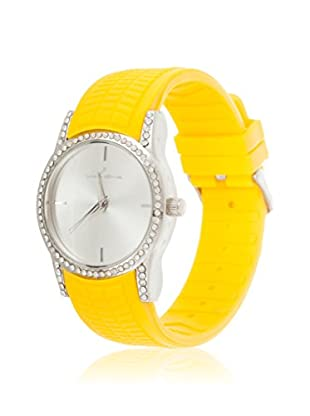 VIANOVA Women's NWX174445YE-Z Yellow/Silver-Tone Rubber Watch