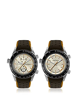 JACQUES LEMANS Quarzuhr Man Turnable - Dualtime - Chrono 44 mm
