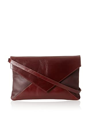 HAYVEN Women's Laredo Envelope Clutch, Oxblood/Brandy, One Size