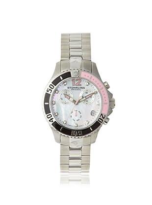 Stuhrling Original Women's 162CR.11217 Nautical Regatta Mother of Pearl and Diamond Pink Watch