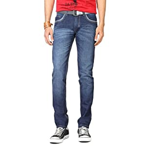 Zip Front Casual Jeans