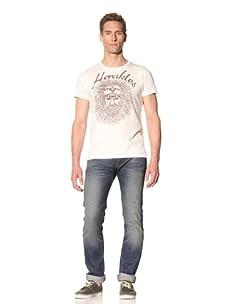 Tee Library Men's Herakles Crew Neck T-Shirt (White)