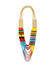 nOir Multicolor Plated Bead Necklace