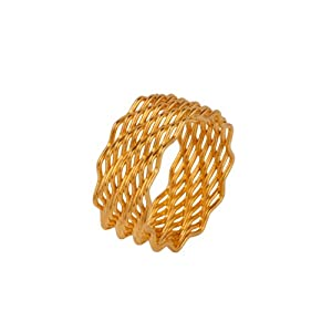 Voylla Stylish Yellow Ring Band