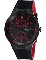 Kenneth Cole Dress Sport Analog Black Dial Mens Watch-IKC8033