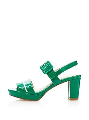 Cortefiel Sandalias Tacon Sport Ciud (Verde Oscuro)