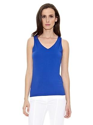 Cortefiel Camiseta Básica Tirante A (Azul)