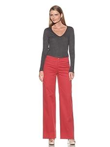Loro Piana Women's Eleven Mambo Pants (Scarlet)