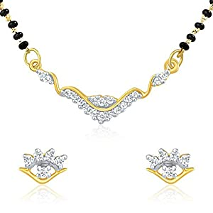 Mahi Gold Plated Luminous Shine Mangalsutra Set With CZ Stones