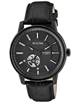 Bulova Automatic Analog Black Dial Men's Watch - 98A139