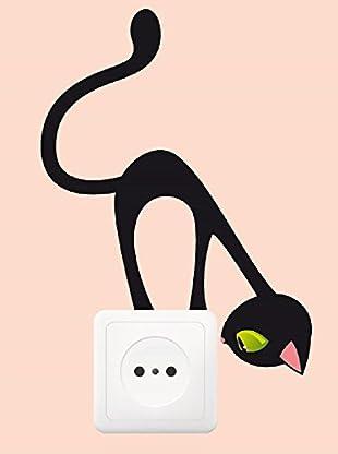 Ambiance Sticker Wandtattoo Sticker For Plug Curious Cat