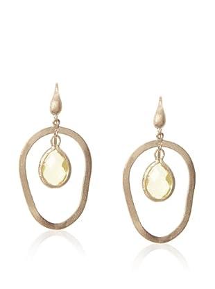 Rivka Friedman Canary Crystal Dangle Earrings