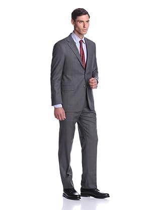 Hickey Freeman Men's Windowpane Suit (Grey)