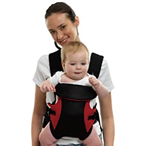 Tollyjoy 3-in-1 Baby Carrier (Black/Red)