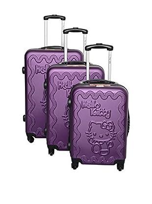 Hello Kitty Set de 3 trolleys rígidos 85360/3