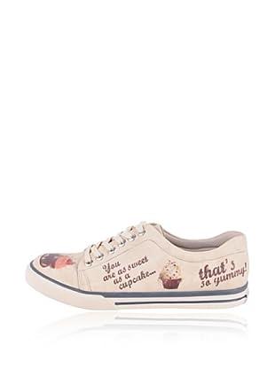 Dogo Sneaker Love Cupcakes (Creme)
