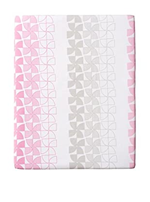 Olli & Lime Pinwheel Crib Sheet, Pink/Grey