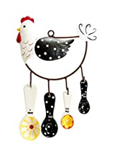 Boston Warehouse Measuring Spoon Set with Metal Holder and Hen House Design