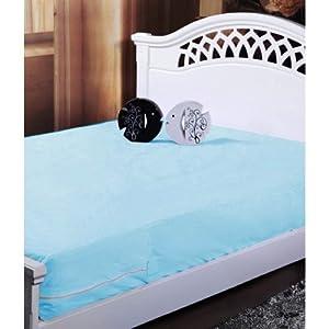 Homefab India Blue Waterproof Mattress Protector (Buy 1 Get 1 Free)