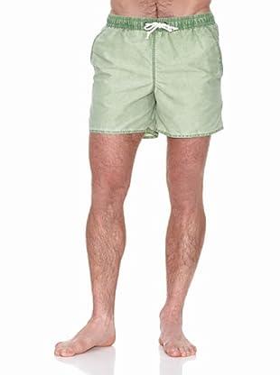 Cortefiel Bañador Bañador Ctf Liso (Verde Oscuro)