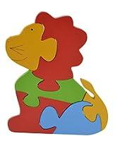 Skillofun Wooden Take Apart Baby Puzzle Large - Lion, Multi Color