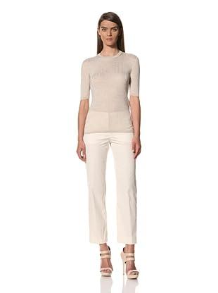 JIL SANDER Women's Silk Short Sleeve Sweater