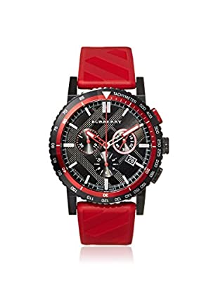 Burberry Men's BU9805 The New City Red/Black Check Ion-Plated Steel Watch
