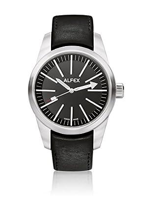Alfex Quarzuhr 5624_475 44 mm schwarz