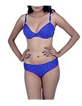 Kotty Multicolour Printed Soft Bra & Panty Set