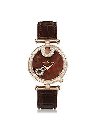 Christian Van Sant Women's CV6411 Glamour Brown Stainless Steel Back Watch