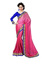Sourbh Saree Attractive Satin Chiffon Must Have Best Sarees for Women Party Wear, Special Karwa Chauth Gifts for Wife, Women Clothing Collection