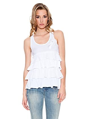 Fornarina Camiseta Happyness (Blanco)