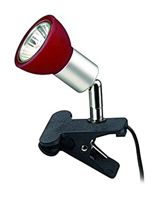 De-sign Lights Leselampe Clips silber/rot