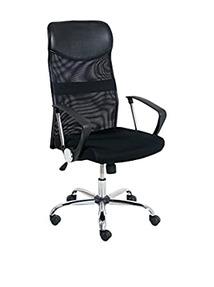 Italian Office Silla De Oficina New York Negro