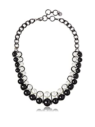 Fragments Double Layer Black & White Pearl Necklace