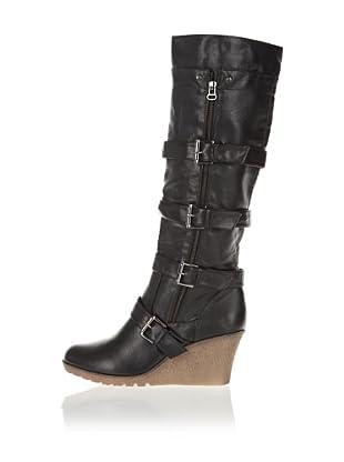 Buffalo Girl 112625 - Botas para mujer (Negro)