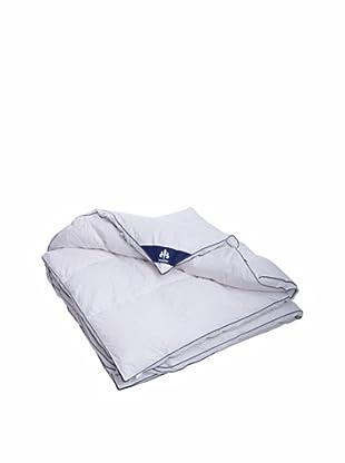 Irisette Kassettendecke 100% Daunen weiß/blau  200x200cm (weiß/blau)