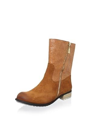 Matt Bernson Women's Dakota Side Zip Boot (Cognac/Canvas)