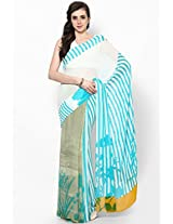 Georgette Multi Color Screen Printed Saree Satya Paul
