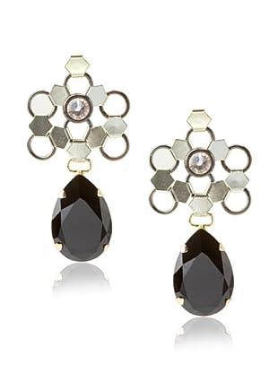 Lionette Designs by Noa Sade Silk & Jet Paluma Teardrop Earrings