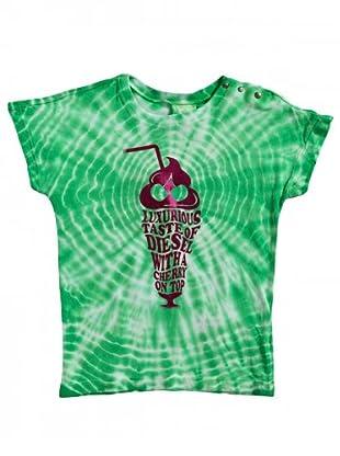 Diesel Kid T-Shirt Tumub Baby (Grün/Weiß)