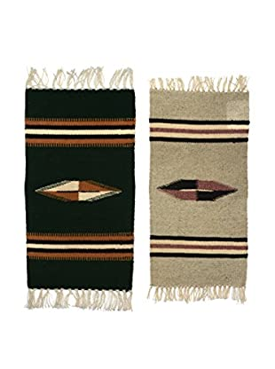 Uptown Down Previously Owned Set of 2 Chimayo Woven Wool Mats