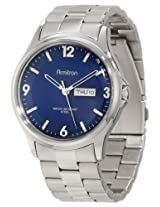 Armitron Men's 20/4847BLSV Stainless Steel Silver-Tone Blue Dial Bracelet Watch