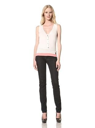 Just Cavalli Women's Ribbed Knit Vest (White)